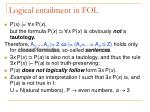 logical entailment in fol