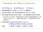 s atisfiability and validity in interpretation1
