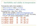 s atisfiability and validity in interpretation2