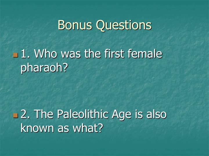 Bonus Questions