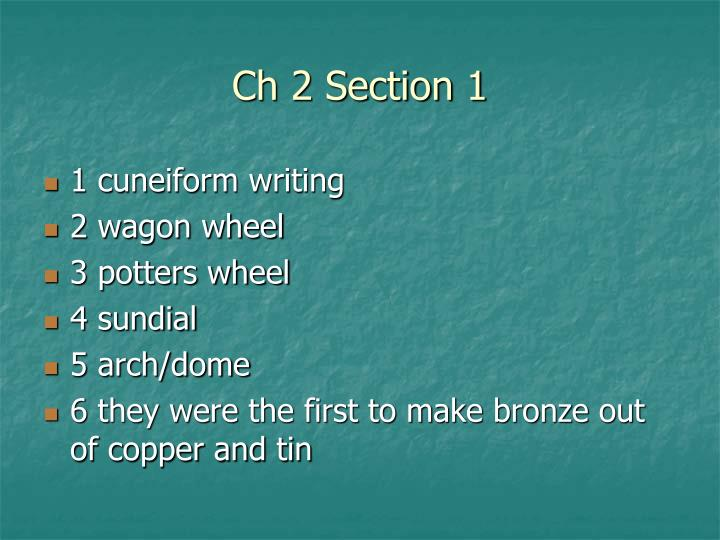 Ch 2 Section 1