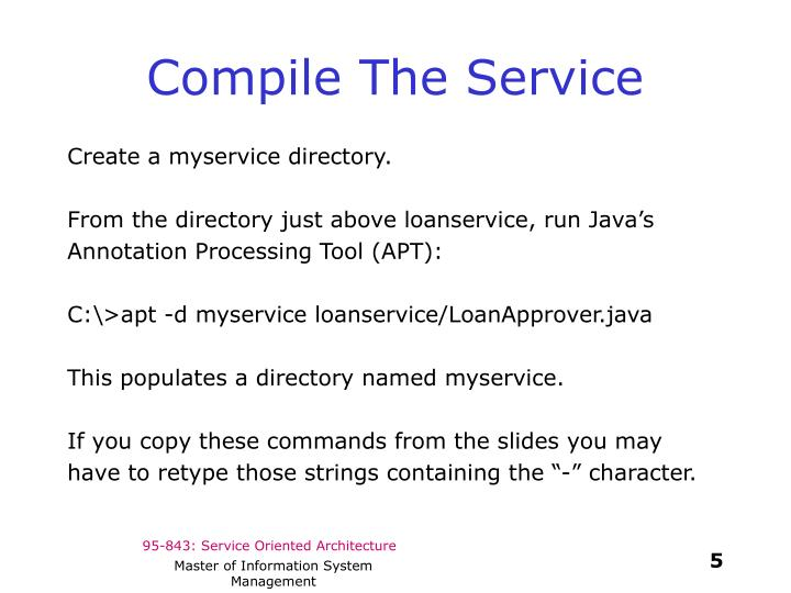 Compile The Service