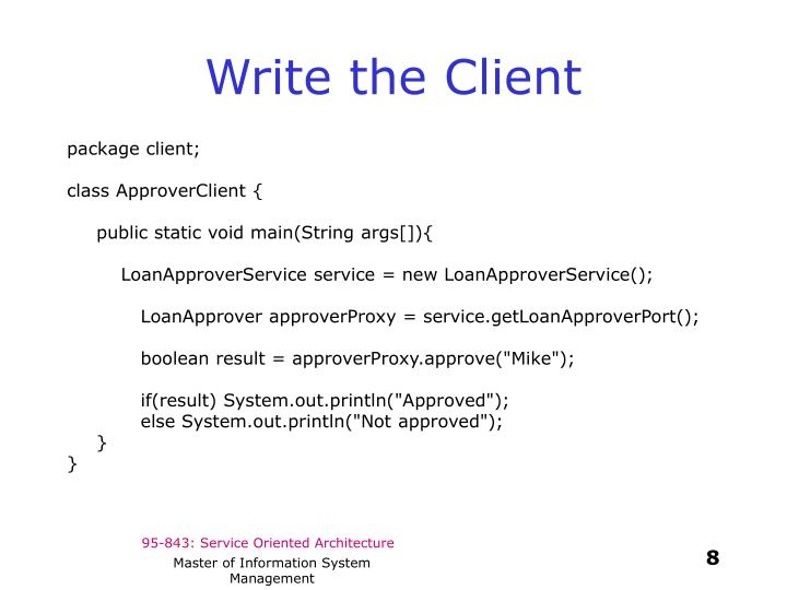 Write the Client