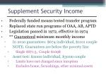 supplement security income