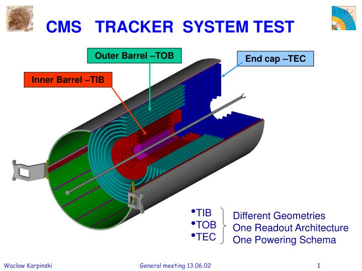 CMS   TRACKER  SYSTEM TEST