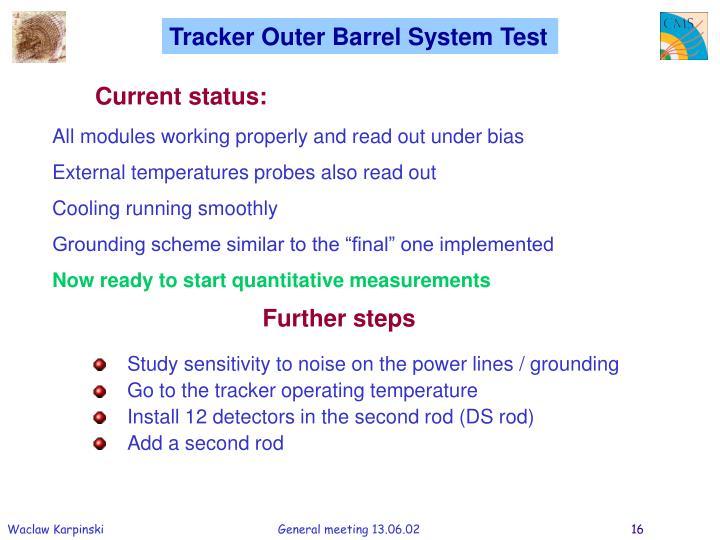 Tracker Outer Barrel System Test