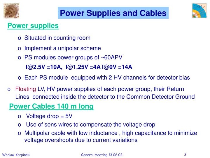 Power Supplies and Cables