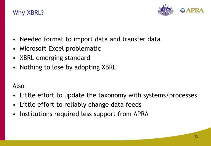 Why XBRL?