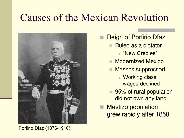Causes of the mexican revolution