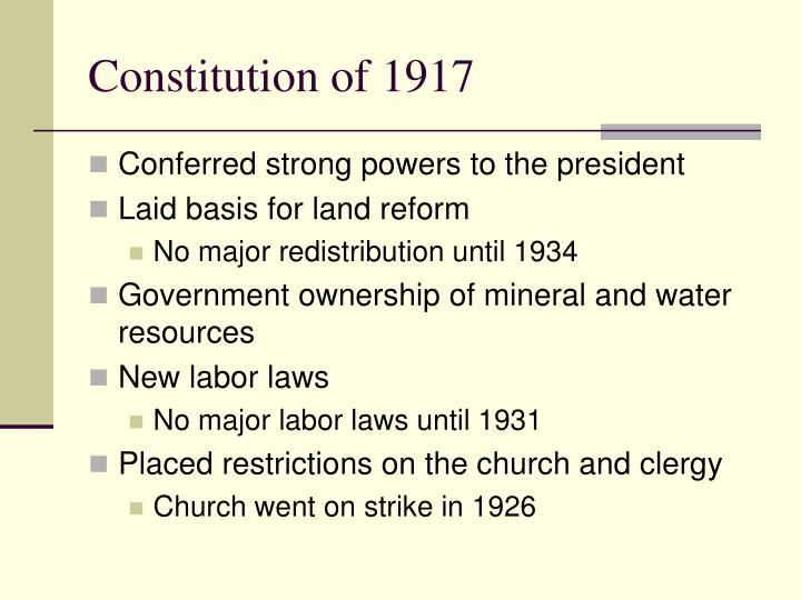 Constitution of 1917