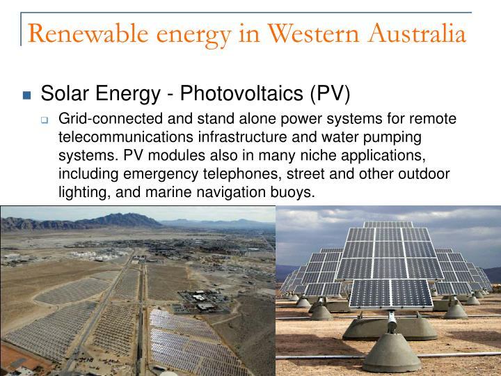 Renewable energy in Western Australia