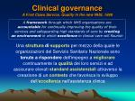 clinical governance a first class service quality in the new nhs 19981