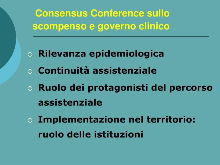 Consensus Conference sullo scompenso e governo clinico