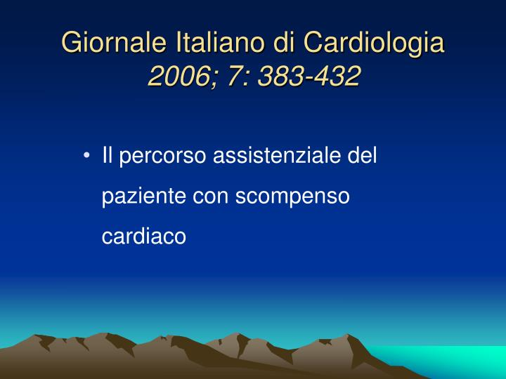 Giornale Italiano di Cardiologia
