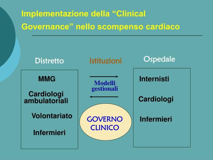 """Implementazione della """"Clinical Governance"""" nello scompenso cardiaco"""