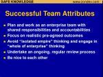 successful team attributes