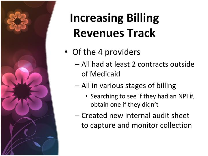 Increasing Billing Revenues Track