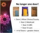 no longer one door