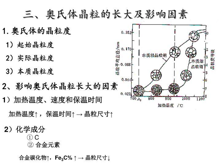 三、奥氏体晶粒的长大及影响因素