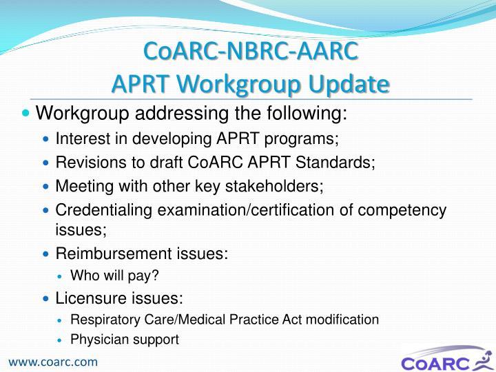 CoARC-NBRC-AARC