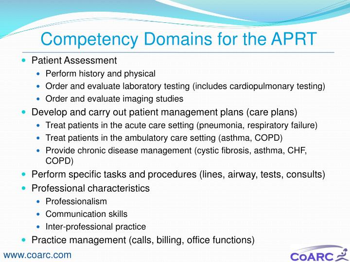 Competency Domains for the APRT