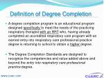 definition of degree completion