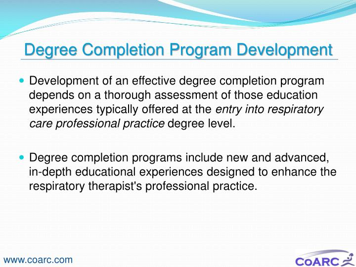 Degree Completion Program Development