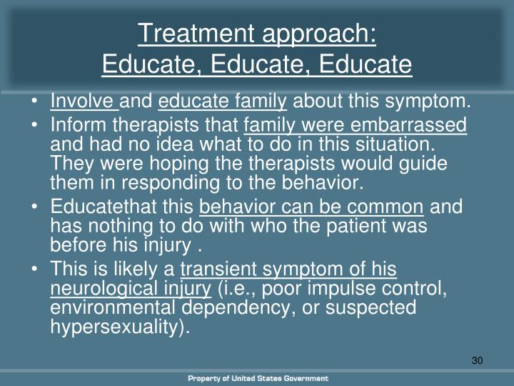 Treatment approach: