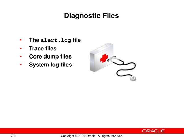Diagnostic files