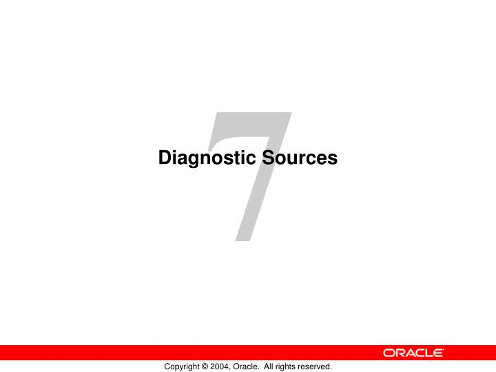 Diagnostic sources