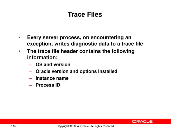 Trace Files