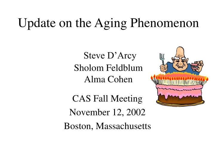 Update on the Aging Phenomenon
