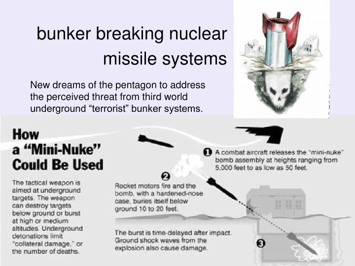 bunker breaking nuclear