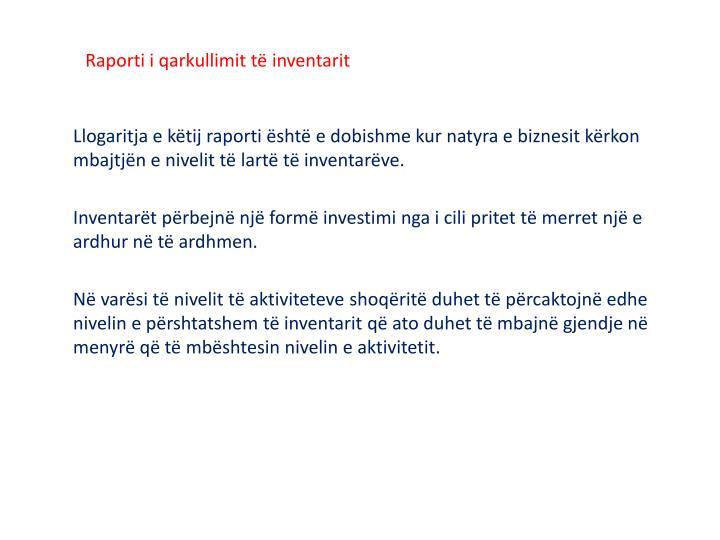 Raporti i qarkullimit të inventarit
