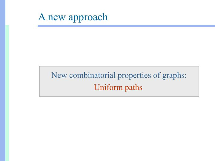 New combinatorial properties of graphs: