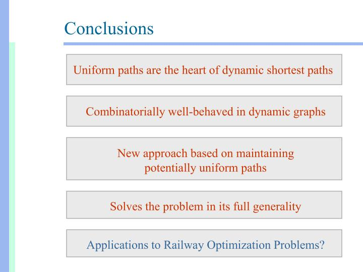Uniform paths are the heart of dynamic shortest paths