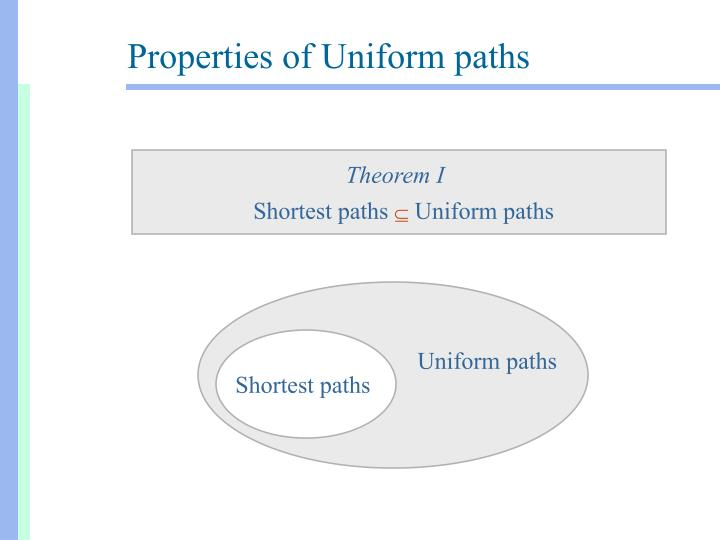 Uniform paths