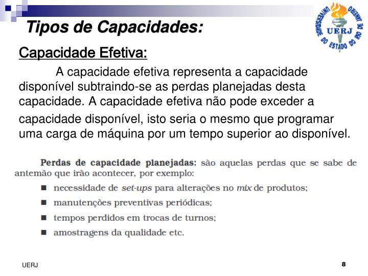 Tipos de Capacidades: