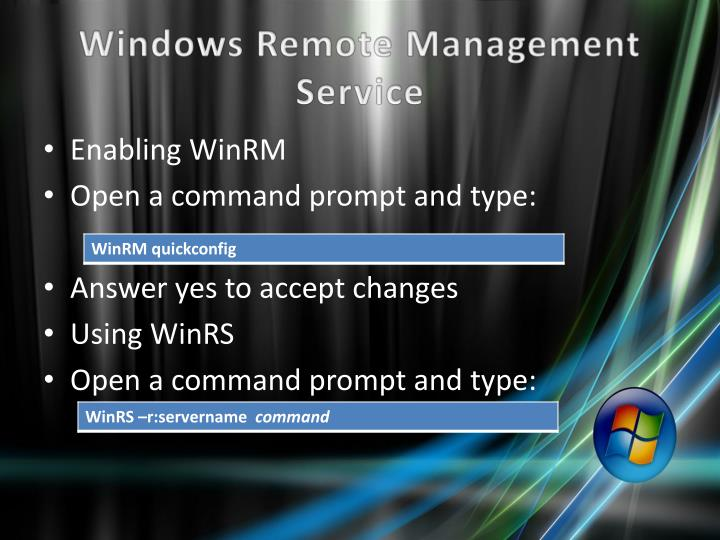 Windows Remote Management Service