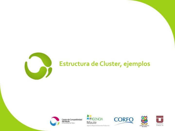 Estructura de Cluster, ejemplos