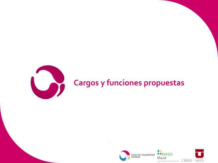 Cargos y funciones propuestas