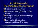 an l itheoireacht the strands of the curriculum