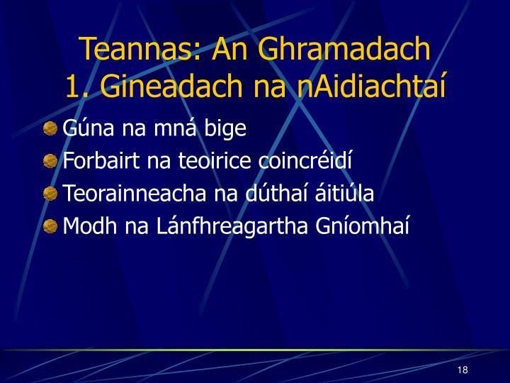 Teannas: An Ghramadach