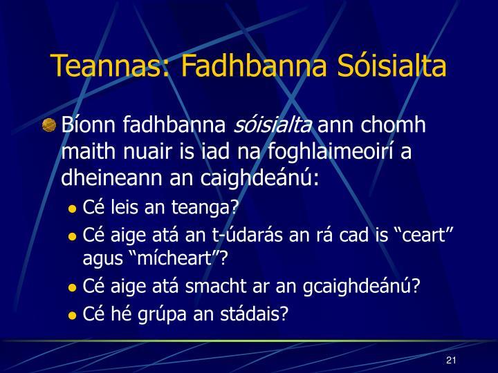 Teannas: Fadhbanna Sóisialta