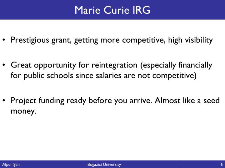 Marie Curie IRG