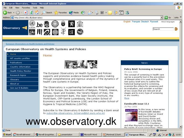 www.observatory.dk