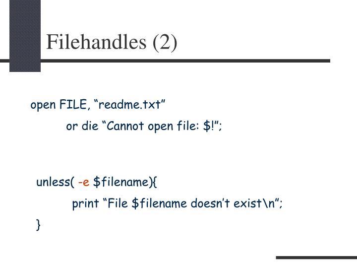 Filehandles (2)