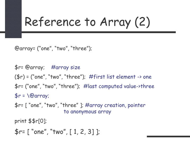 Reference to Array (2)