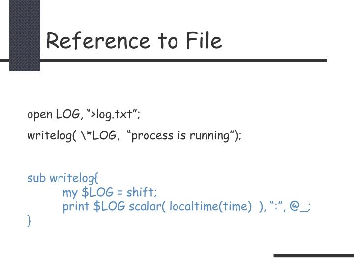 Reference to File