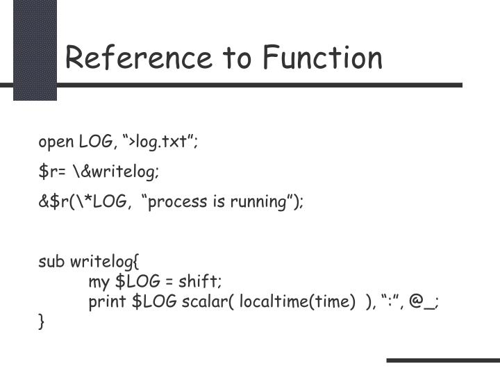 Reference to Function